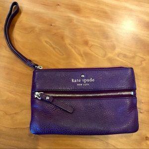 Kate Spade Wristlet- Purple